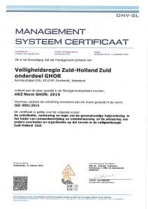 HKZ certificaat 2019